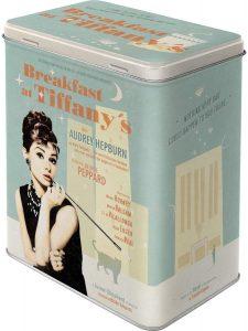 Lata metálica Estilo Retro diseño de Audrey Hepburn