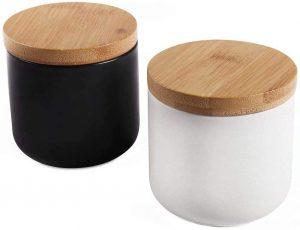 Pack de 2 tarros de almacenamiento de cerámica